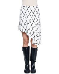 Balenciaga Printed Asymmetric-hem Skirt - Lyst