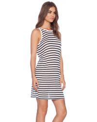 T By Alexander Wang Stripe Tank Dress - Lyst