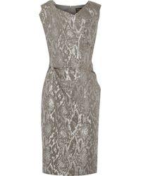 Vivienne Westwood Anglomania Ocean Metallic Snakejacquard Dress - Lyst