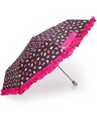 Forever 21 - Betsey Johnson Leaf Print Ruffled Umbrella - Lyst