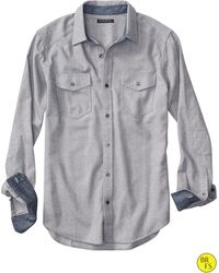 Banana Republic Factory Gray Birdseye Shirt - Lyst