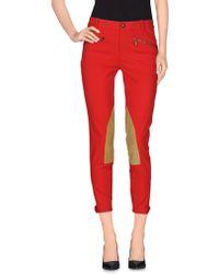 Ralph Lauren Casual Trouser red - Lyst