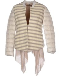 Alysi Down Jacket beige - Lyst