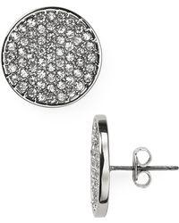 Lauren by Ralph Lauren - Dazzling Jewels Pave Disk Earrings - Lyst
