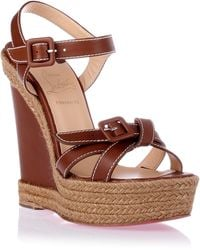 Christian Louboutin Zero Problem Wedge Sandal - Lyst