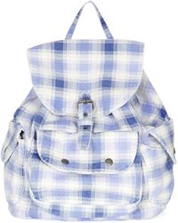 Topshop Check Print Backpack - Lyst