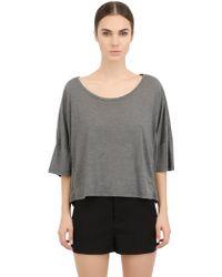 Alternative Apparel Oversized Cotton Blend Cropped T-shirt - Lyst