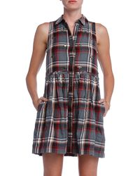 Elizabeth And James Beau Plaid Dress - Lyst