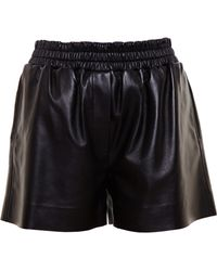 Acne Studios Leather Shorts - Lyst