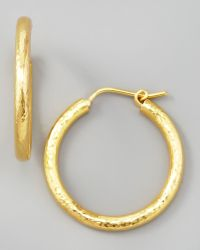 Elizabeth Locke - Giant Hammered 19k Gold Hoop Earrings - Lyst