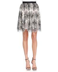 Lela Rose Full Floral Lace Skirt - Lyst