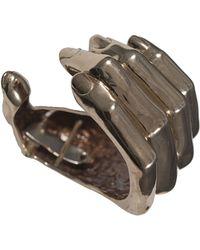 Bernard Delettrez Bronze Hand Cuff - Lyst