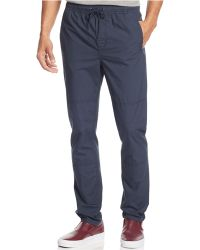 Calvin Klein Jeans Poplin Travel Pants blue - Lyst