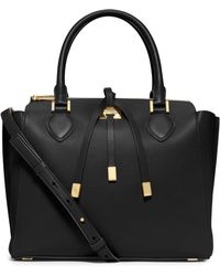 Michael Kors Miranda Large Leather Satchel - Lyst