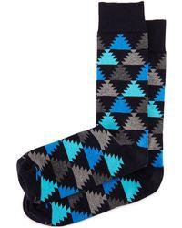 Jonathan Adler   Aztec-print Knit Socks   Lyst