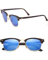 Ray-Ban Clubmaster Flash Lens Sunglasses - Lyst
