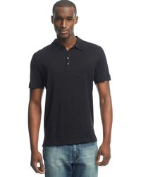 Kenneth Cole Reaction Black Dressy Polo - Lyst