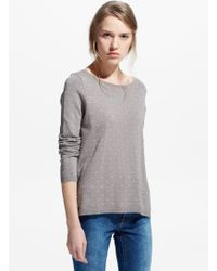 Mango Embossed Polka-Dot Sweater - Lyst
