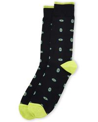Robert Talbott Oval Medallion Crew Socks - Blue