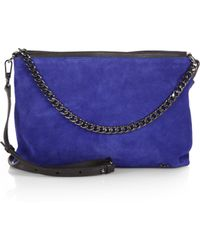 Halston Heritage Suede Chain Crossbody Bag - Lyst