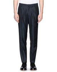 Theory 'Felder' Wool-Cotton Pants - Lyst