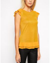 Oasis Pleated Hem Shell Top - Lyst