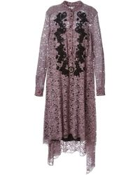 Antonio Marras Lace Asymmetric Dress - Lyst