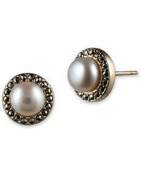 Judith Jack - 5mm Freshwater Pearl And Goldtone Stud Earrings - Lyst