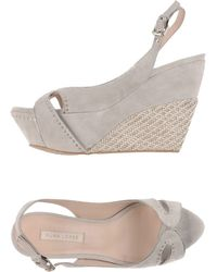 Pura Lopez Sandals gray - Lyst