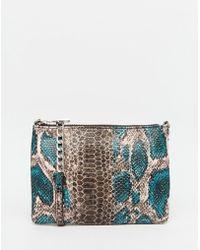 ASOS | Snake Zip Top Cross Body Bag | Lyst