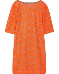 Matthew Williamson Neon Embroidered Tulle Dress - Lyst