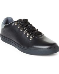 French Connection Black Fenton Sneakers - Lyst