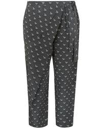 Weekend by Maxmara Ponte Zebra Print Relaxed Trousers - Lyst