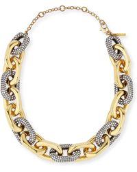 Lele Sadoughi Pave Crystal Link Necklace - Lyst
