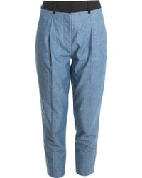 3.1 Phillip Lim Chambray Trousers blue - Lyst