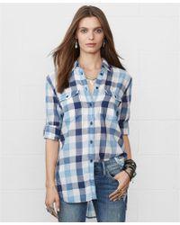 Denim & Supply Ralph Lauren Longsleeve Plaid Flannel Shirt - Lyst