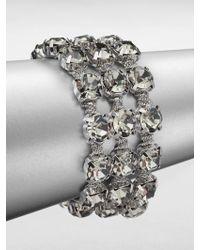 ABS By Allen Schwartz - Faceted Multi-row Bracelet - Lyst
