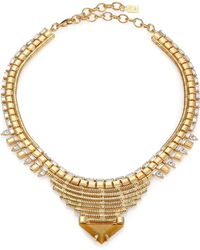 DANNIJO Ezra Crystal Collar Necklace - Lyst