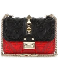 Valentino Glam Lock Mini Leather Shoulder Bag - Lyst