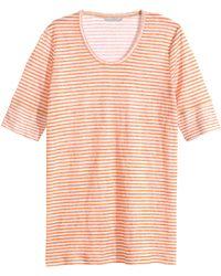 H&M Orange Linen Top - Lyst