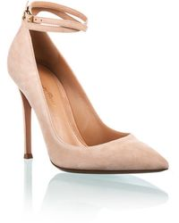 Gianvito Rossi Pump with Ankle Strap Nude - Lyst
