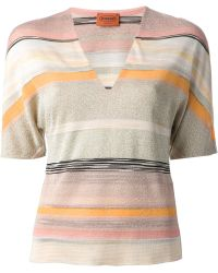 Missoni Striped Sweater - Lyst
