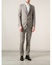 Tagliatore Gray Fitted Suit - Lyst