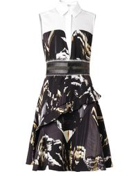 Kenzo Mountains-print Collared Dress - Lyst