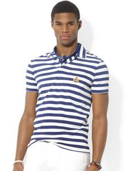Ralph Lauren Polo Heritage Crest Striped Lisle Polo - Lyst