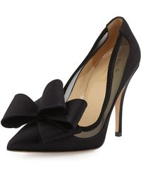 Kate Spade Lovely Satin Bow Pump - Lyst