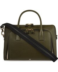 Anya Hindmarch Maxi Leather Tote Green - Lyst