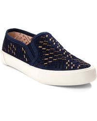 Aerin - Monique Perforated Suede Slip-on Sneakers - Lyst
