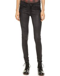 Rag & Bone The Leather Skinny Pants  - Lyst