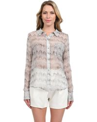 Elizabeth And James Buttoned Down Blouse - Lyst